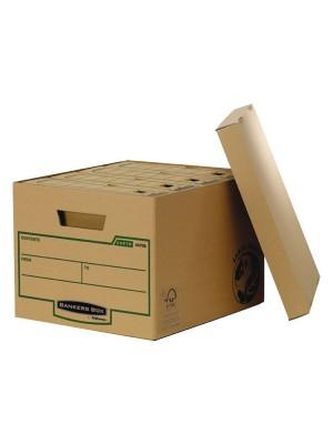 Contenedor de archivos Bankers Box Con tapa 325x260 x375 mm. Pack 10u.