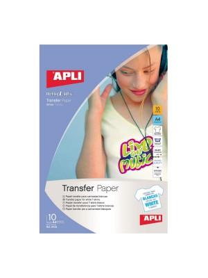 Pack 10h papel transfer para prendas blancas