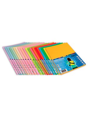 Paquete 100h. papel color Paperline 75g A4 Naranja Fluorescente