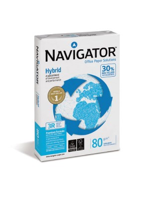 Paquete 500h papel Navigator Hybrid 80gr A4