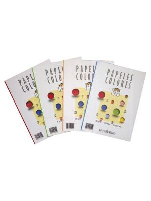 Paquete 100h papel color Iris 80g A4 amarillo limón