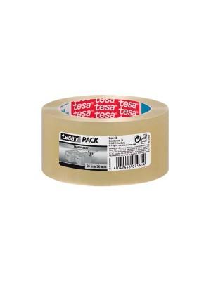 Pack 6 rollos de precinto tesapack 66m x 50mm transparente