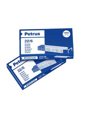 Caja 1000 grapas cobreadas Petrus 26