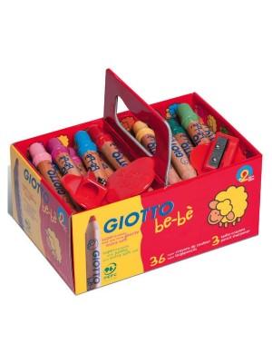 Schoolpack lápices de madera Giotto be-bé colores surtidos + 3 sacapuntas