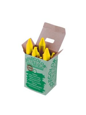 Caja 12 ceras Jovicolor amarillo