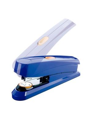 Grapadora Novus B8FC con sistema Flat-clinch de grapado plano. Grapa hasta 50h. Azul