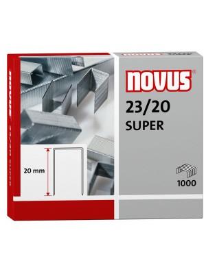 Caja 1000 grapas galvanizadas Novus 23/20