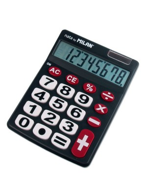 Calculadora de sobremesa Nata by Milan teclas grandes 8 dígitos