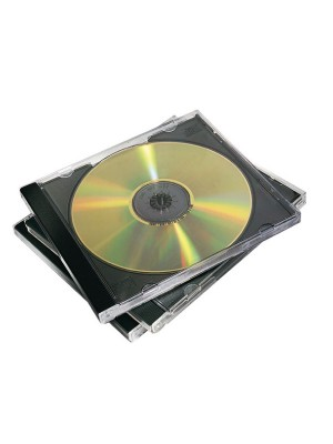 Pack 10 cajas Fellowes CD-DVD Negro