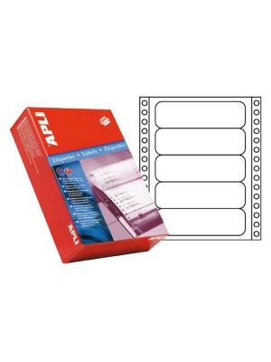 Caja 500h. etiquetas Apli impresora maticial 101,6x36mm. 4000 etiquetas