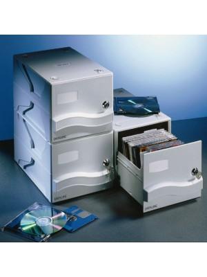 Caja archivador Dataline para 25 CD-DVD con caja