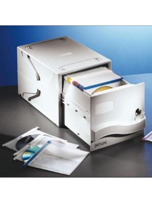 Caja archivador Dataline para 160 CD-DVD con fundas