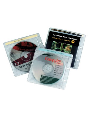 Pack 10 fundas CD Grafoplas  2 taladros