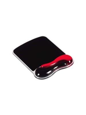 Alfombrilla para ratón con reposamuñecas Kensington Duo Gel Negro/Rojo