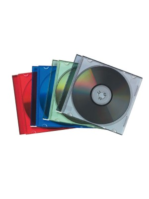 Pack 25 cajas Fellowes CD-DVD slim Colores surtidos