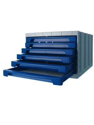 Módulos de 6 cajones pequeños Archivotec Azul