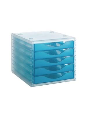 Módulo 5 cajones Archivo 2000 Azul mar translúcido