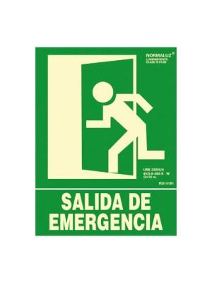 Señalización normalizada salida de emergencia