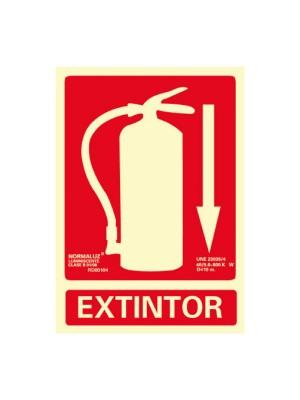 Señalización normalizada extintor