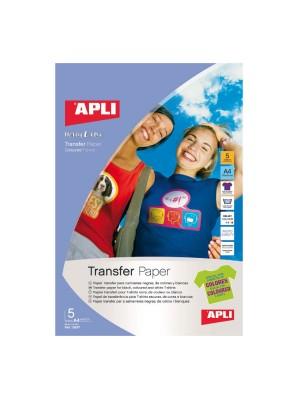 Pack 5h papel transfer para prendas de color