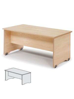 Mesa rectangular Serie Work 120x60x72cm. Alumino/Gris