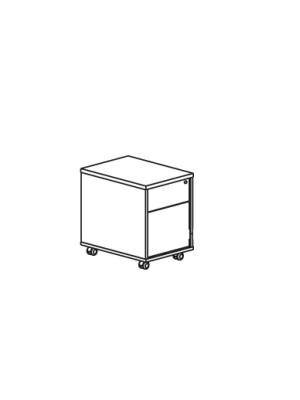 Buck cajón y archivador serie Premier 43x45x55cm