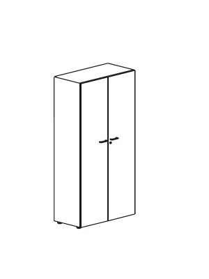 Armario puertas completas Serie Premier 75x42x80cm. Incluye 1 estante. Blanco/Blanco