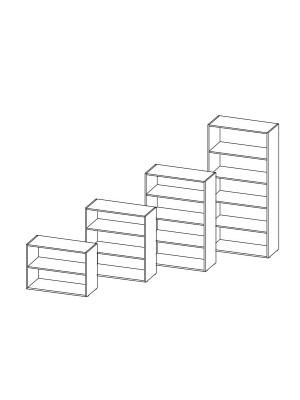 Armario librería 103x45x90cm. Incluye 2 estantes. Blanco