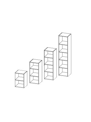 Armario librería 103x45x45cm. Incluye 2 estantes. Blanco