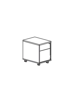 Buck 1 cajón+archivador con ruedas color blanco 42x55x60cm.