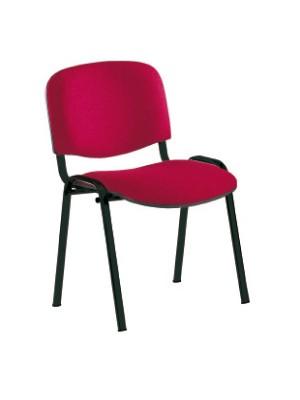 Silla confidente Class asiento y respaldo tapizados. Sin brazos. Negro