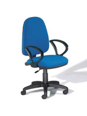Silla de oficina Single contacto permanente con brazos tapizado 1 color burdeos