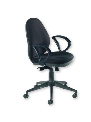 Silla de oficina Allison mecanismo sincro con brazos tapizado 1 negro