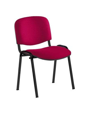 Silla confidente Class asiento y respaldo tapizados. Sin brazos. Azul