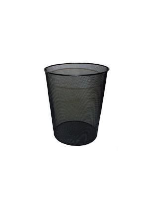 Papelera metálica de rejilla 24x34cm 18 litros negra