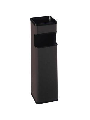Cenicero papelera metálico acero inoxidable cuadrado color negro