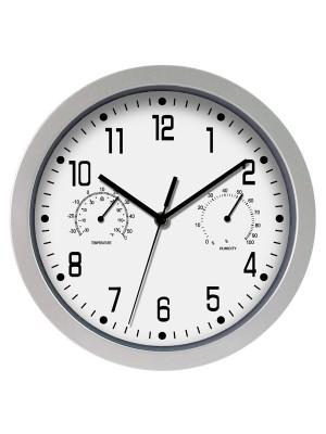 Reloj de oficina marco plata 30 cm diám.