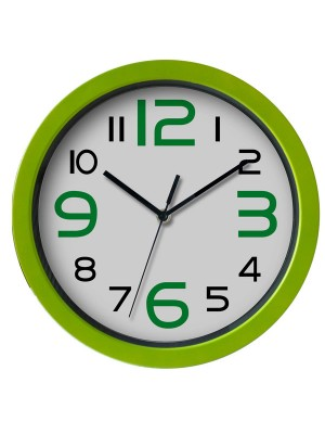 Reloj de oficina marco verde 30 cm diám.