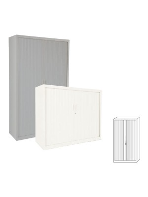 Armario Gapsa puertas de persiana. 102x181x45cm. Distintos colores de madera a elegir