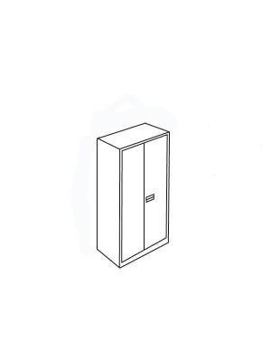 Armario metálico Arpe puertas batientes 198x102x45cm. Incluye 4 estantes