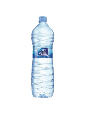 Botella agua Font Vella 1,5l. Pack 6 botellas